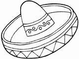 Coloring Mexican Hat Mayo Sombrero Printable Getcolorings Getdrawings sketch template