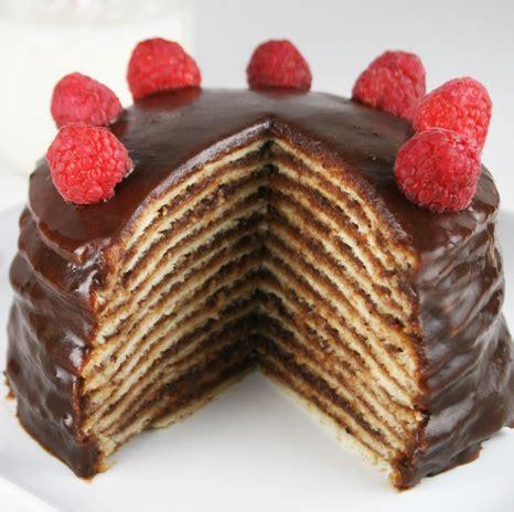 eggo  layer chocolate pancake cake mom loves baking
