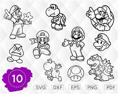 Mario Svg Cricut Super Luigi Yoshi Bros