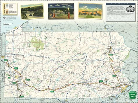 pennsylvania turnpike commission travel guide  map