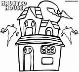 Haunted Coloring Pages Cartoon Drawing Print Getdrawings Coloringway sketch template