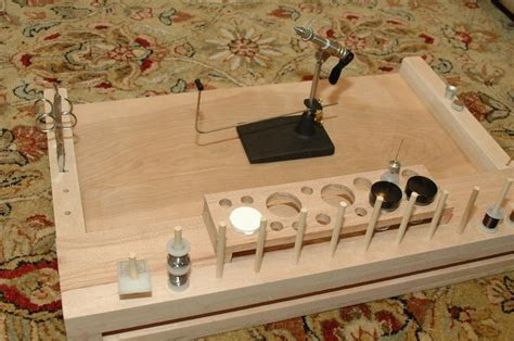 fly tying bench diy  woodworking