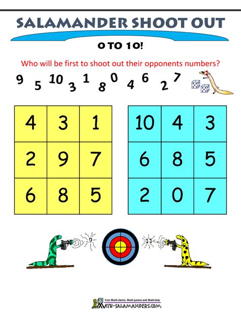 printable math addition games for first grade 1st grade math games