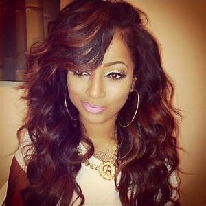 Curly Weave Hairstyles with Side Bangs | hair styles ...