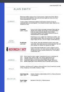 best resume format 2017 doc chronological resume format 2017