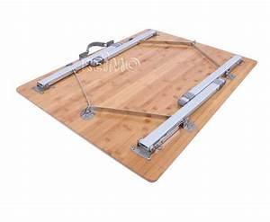 Tisch 40 X 60 : bambus tisch catania mit aluminiumgestell 80 x 60 cm h henverstellbar von camp4 ~ Bigdaddyawards.com Haus und Dekorationen