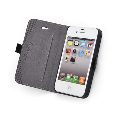 iphone 4s wallet black premium genuine leather side flip leather wallet