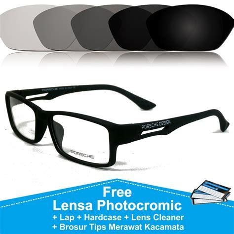 frame fashion pria kacamata sporty porsche design 837 lensa minus photocromic anti radiasi uv