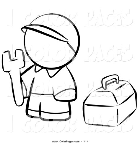 11466 work clipart black and white vector coloring page of a black and white human factor