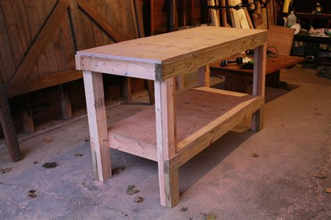ana white quick easy workbench diy projects