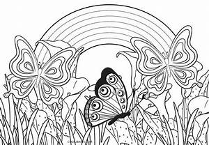 free printable rainbow coloring pages for