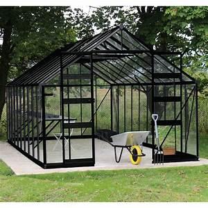 Gewächshaus Aus Glas : gew chshaus 19 92m sicherheitsglas bourton schwarz eden greenhouses ~ Whattoseeinmadrid.com Haus und Dekorationen