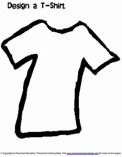 Coloring Clothes Preschool Line
