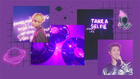 purple bts aesthetic computer wallpaper