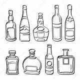 Bottle Alcohol Bottles Illustration Whiskey Drawing Sketch Vector Getdrawings sketch template
