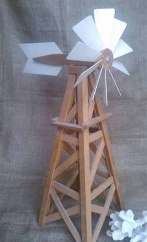 homemade model windmill  tall woodwork windmill