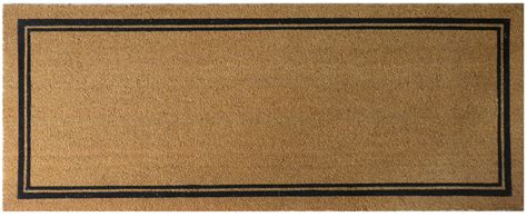 24 X 60 Doormat by With Border 24x60 Coir Doormat With Backing Entryways