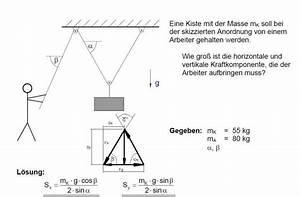 Seilkraft Berechnen : kraft berechne die seilkraft mathelounge ~ Themetempest.com Abrechnung