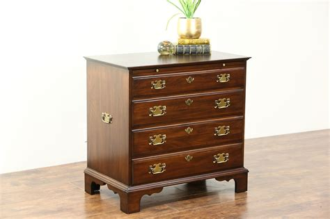 sold cherry vintage chest  small dresser pull