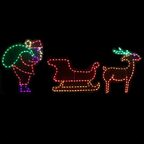 lighted outdoor decorations lighted santa claus