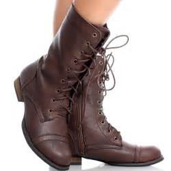 womens brown boots nz brown womens couture shoes brown toe lace up combat army womens flat ankle