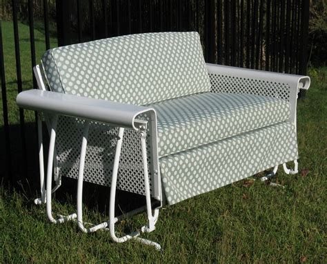 two seat 50s glider vintage metal outdoor furniture