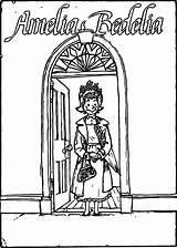 Amelia Coloring Bedelia Door Bible sketch template