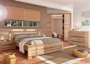 Lit natura chene blond l 168 x h 86 x p 198 for Chambre à coucher adulte moderne avec matelas latex naturel 90x200