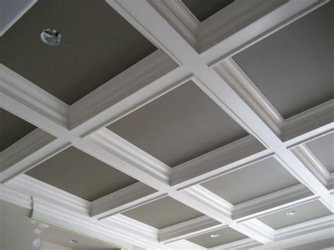 color white   cofer ceiling  modern house