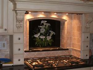 Calla lily and iris backsplash for Kitchen cabinets lowes with calla lily wall art