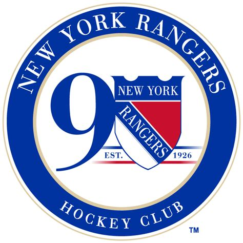 york rangers anniversary logo national hockey league