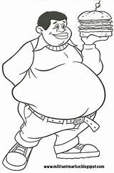 Fat Albert Coloring Pages Clipart Month History Drawing Cosby Clipground Holding 2006 Pen Help Bright Militant Version sketch template