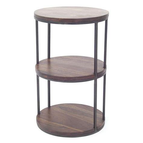 table de cuisine d appoint guéridon loft en palissandre et fer forgé meuble d 39 appoint