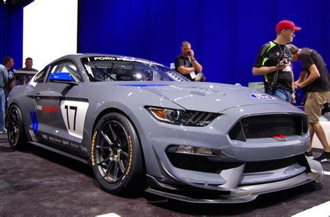 ford unveils mustang gt race car  sema show autocar