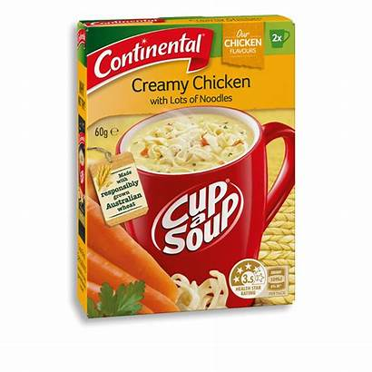 Chicken Continental Noodles Creamy Soup Cup Lots