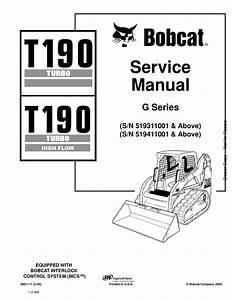 Bobcat T190 Compact Track Loader Service Manual 2