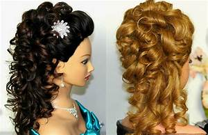 Bridal, prom hairstyle for long hair Curly hairstyle