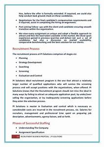 Business proposal letter sample for recruitment agency for Hiring proposal template
