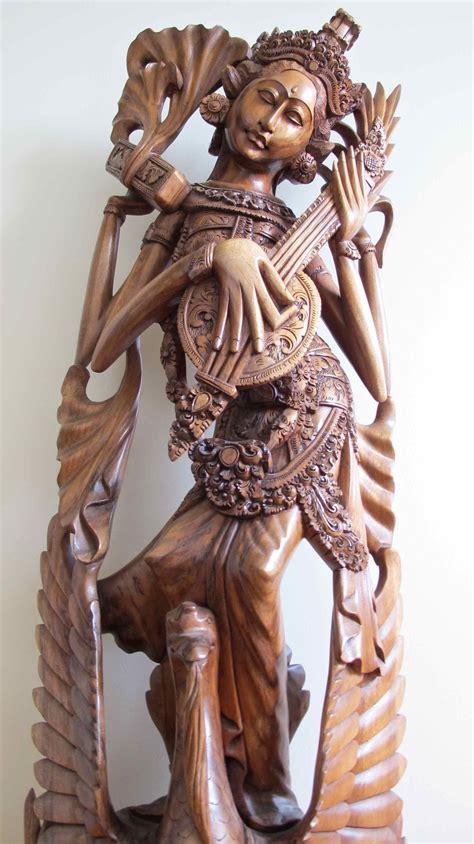 statue balinaise en bois balinese statue  wood