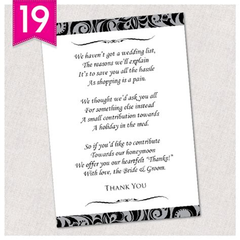 table numbers for wedding personalised wedding poem money cards free draft