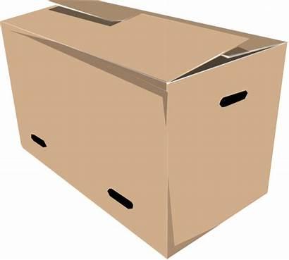 Box Closed Clipart Boxes Cardboard Clip Vector