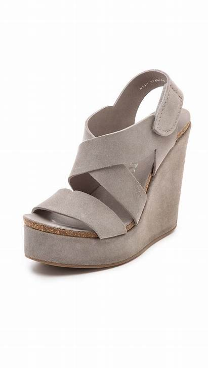 Pedro Garcia Wedge Sandals Trina Pumice Shoes