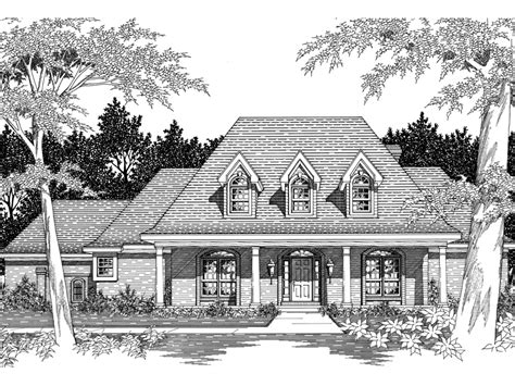 Southern Plantation House Plans by Darvell Southern Plantation Home Plan 060d 0053 House