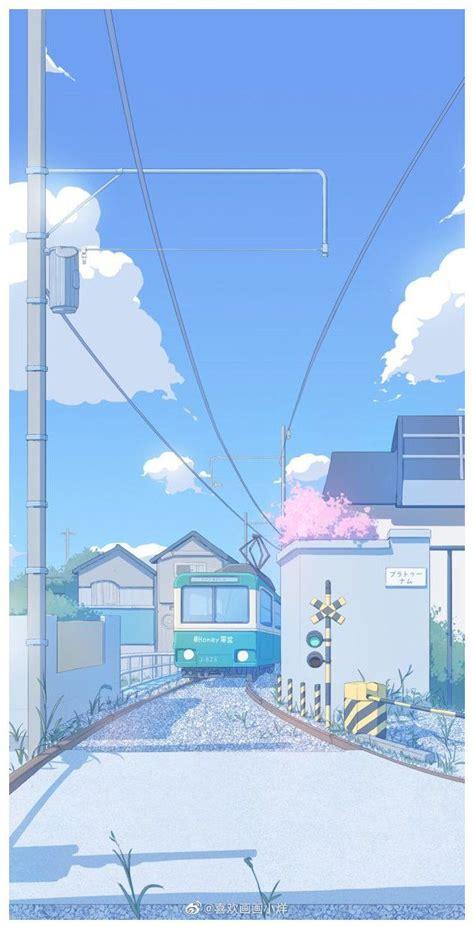 walpaper polos warna ungu anime scenery wallpaper