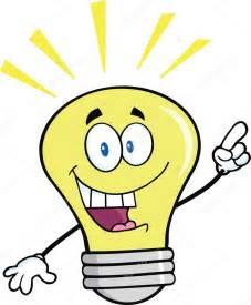 Type A Light Bulb by Gl 252 Hbirne Cartoon Figur Mit Einer Hellen Idee Stockfoto