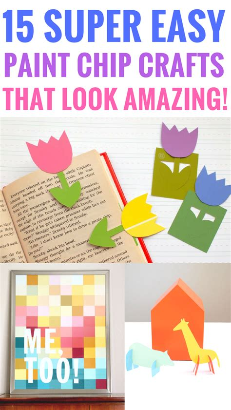 easy paint chip crafts   amazing