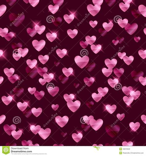 glowing pink hearts sequins background stock vector