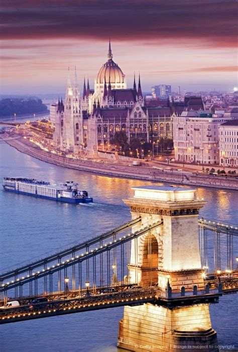 Chain Bridge In Budapest Hungary Landscape Photography