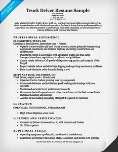 truck driver resume sample resume companion With cdl driver resume samples