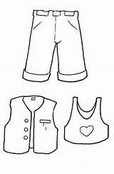 Coloring Ropa Roupas Pintar Imprimir Malvorlagen Clothing Kleidung Dibujos Zum Colorare Ausmalbilder Abbigliamento Imagenes Outfit Vestiti Short Ausdrucken Disegni Vestito sketch template
